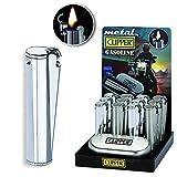 Clipper Reibradzündung Öl Benzin Benzin Feuerzeug Metall, silber