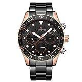 Reloj NAVIFORCE para Hombres Que Muestra la Hora, la Fecha y el día, con Movimiento multifunción de Cuarzo, Esfera Resistente a 3 ATM, Reloj Impermeable de Cuarzo