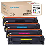 Mycartridge Compatible pour HP 203A CF540A Cf541A Cf542A Cf543A Toner 4-Pack HP Color...