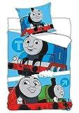 Juego Cama tren Thomas and Friends cintas funda nórdica individual 140x 200+ almohada–100% original algodón