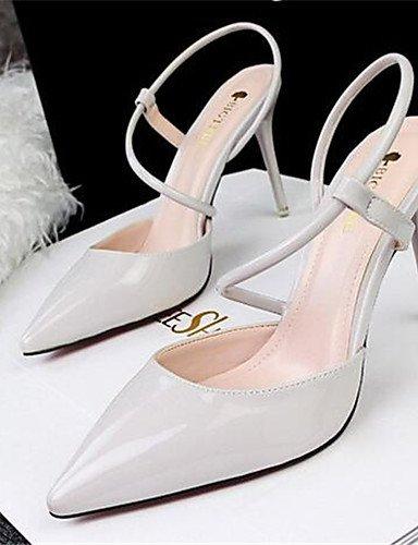 WSS 2016 Chaussures Femme-Habillé / Soirée & Evénement-Noir / Rose / Violet / Rouge / Blanc / Gris-Talon Aiguille-Talons-Talons-Similicuir pink-us4-4.5 / eu34 / uk2-2.5 / cn33