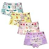 ARAUS-Lot de 4 Fille Bébé Enfant Culotte Sous-Vêtement en Coton Boxer Slip Motif Mignon Lapin (4-6 ans)