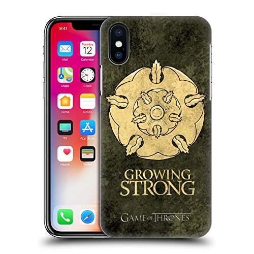 Ufficiale HBO Game Of Thrones Stark Sigilli Scuri Cover Retro Rigida per Apple iPhone X Tyrell