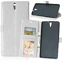 Beiuns para Sony Xperia C5 Ultra / Xperia C5 Ultra Dual (6 pulgadas) Funda de PU piel Carcasa - K117 blanco puro