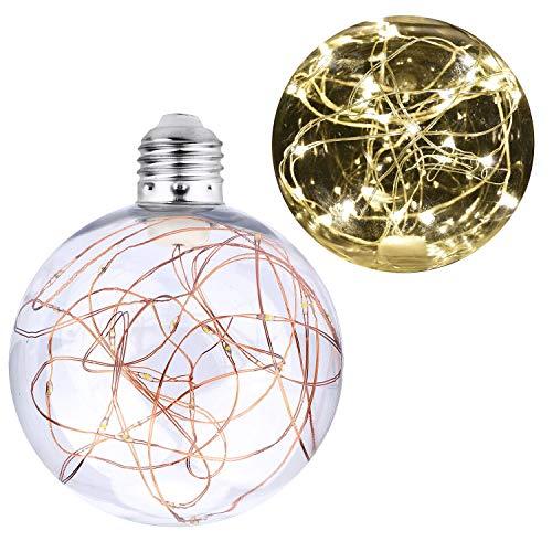 KZKR LED E27 Glühbirne Lichterkette Lampe Deko Glühlampe Warmweiß 3W G100 Vintage LED String Glühbirne für Haus Cafe Bar Garten Laden Hochzeit Weihnachten Beleuchtung