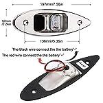 Fydun 12V LED Flush Mount Side Bow Navigation Signal Light 2Pcs 120° Lamp for Marine Boat Yacht Green 61.5lm&Red 19lm 14