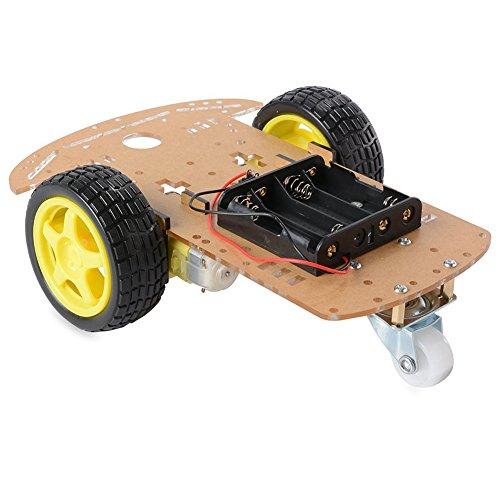 SODIAL(R) 16 pcs Inteligente Robot Coche Chasis Rastreo Equipo/Velocidad codificador Rueda Engranaje Motor Arduino