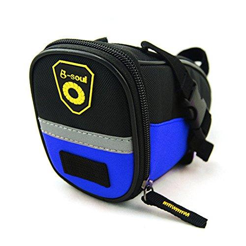 aizhe Bike Radfahren reflektierende Schwanz Tasche Wasser Proof Sitz Tasche Sattel Reiten Fahrrad Tasche blau
