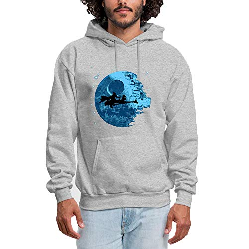 2361c5c80889 HUIYIYANG Tees Custom Hoodie Sweatshirt Long Sleeve for Women, Cartoon Blue  Planet and Witch Silhouette