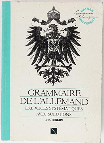 Grammaire de l'allemand exercices avec solutions 031497