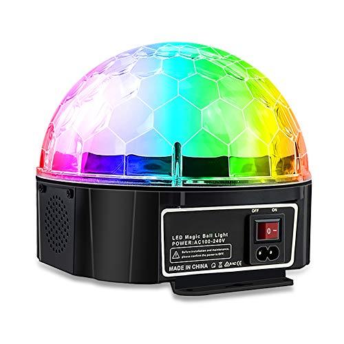 (LJP Bühnenbeleuchtung, 9 Farbe Fernbedienung MP3 Crystal hohe transparente magische Kugel Projektionslampe Nacht ktv Blitz bunten Sternenlicht)