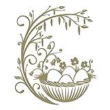 azutura Ostereier Wandtattoo Nach Jahreszeiten Wand Sticker Kinderläden Wohnkultur verfügbar in 5 Größen und 25 Farben Groß Gold Metallic