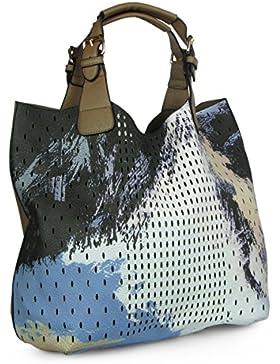 Lovely Lauri Damen Handtasche Painted Henkeltasche Art Bag Tasche