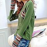 ESAILQ Damen in Trend-Farben aus 100% Baumwolle, auch in Übergrößen, längeres Shirt für drüber und drunter (L,Grün) Test
