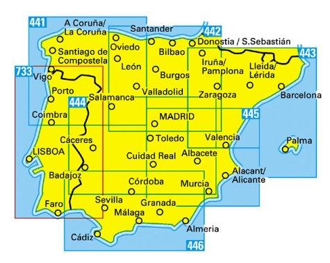 Carte routière : Fuerteventura - Lanzarote, N° 221