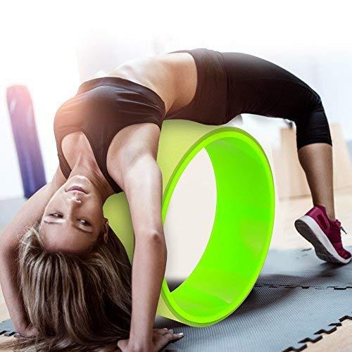 Greensen Yoga Rad zum Dehnen Yoga Wheel Rolle Flexibilität Fitness Rad Rückbeugen Trainings Rad Belastbarkeit Stretch Bend Balance Rad für Pilates und andere Fitnessübungen, Grün, 31 × 31 × 12.5 cm