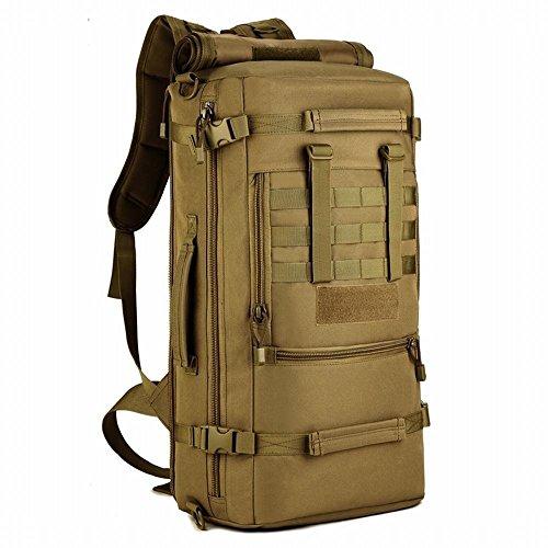 Selighting 50l zaino tattico grande zaino 3 vie multiuso zaino borsa impermeabile molle assault pack per l'esterno caccia camping trekking escursioni (marreno)
