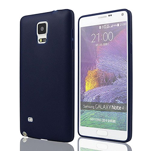 mStick Candy Color Ultra Slim Soft Silicon Back Cover For Samsung Galaxy Note 4 Navy Blue  available at amazon for Rs.99