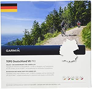 Garmin Topo Deutschland V8 Topografische Vektorkarte, Mehrfarbig One Size