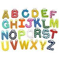 ADESHOP Children Educational Toys, Baby Puzzle Toy Wooden Alphabet Plaything Letters 26pcs Fridge Magnet