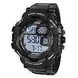 Hiwatch Sportuhren für Kinder Wasserdichte Digital-Armbanduhr (schwarz2)