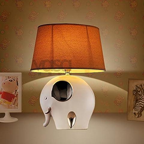 Semplice cinese moderna Tavolino lampada di ceramica creativa mediterranea Soggiorno Lampada camera da letto comodino Decoration