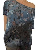 15 verschiedene Farben Damen Blusen mit Blumenmuster Größe 46 48 50 52 54