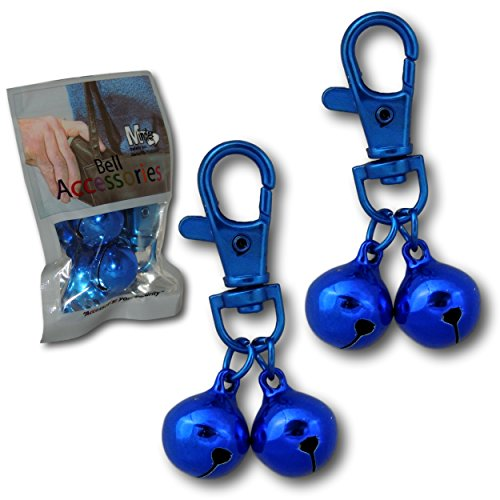 Minder 2 Pack Bell Accessories Handbag Purse Keys Wallet Phone Theft Pickpocket Holiday Twin Security Alarm Bells Attachment (Blue)