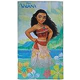 VAIANA badetuch · Disney Vaiana Serviette · Fleurs, plage et mer 70x 120cm–100% coton