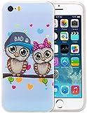iPhone 5/iPhone 5S Silikon Hülle,Nnopbeclik Durchsichtig Leuchtend TPU Clear Case Schutzhülle,Drucken Muster Ultra Slim Weich Flexible Tasche Etui,Stoßdämpfend Transparent Schutz Handytasche Schale Bumper für iPhone 5 5S SE 4.0 Zoll