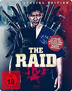 The Raid 1 & 2 Steelbook Edition (exklusiv bei Amazon.de, 2 Blu-rays + 2 Bonus DVDs) [Limited Edition]