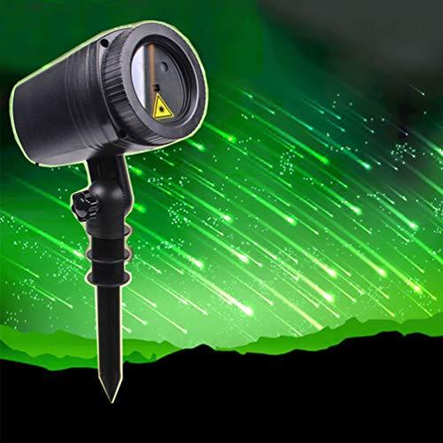 KEYUAN Galaxy LED Lichteffekt Projektor Weihnachten Wasserdichter Gartenprojektor Weihnachtsbeleuchtung Außen und Innen für Timerfunktion Haus, Garten, Party, Geburtstag - Grün
