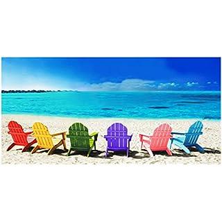Ashley Mills 100% Pure Cotton Luxury Multi Deck Chairs Beach Towel - Modern Design, 75x150cms
