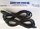 Classic Game Source Inc. Due 8FT 9 pin Wires Cable Replacement Cord di riparazione Atari 7800 controller Joystick
