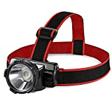 AVANTEK Rechargeable LED Headlamp Torch IP55 Waterproof Headlight with USB Cable for Running, Camping, Hiking, Cycling