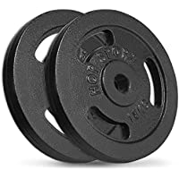 *B-WARE* CAPITAL SPORTS Hantelscheiben Paar Krafttraining Gewichte 2x 10KG 30mm Fitness & Jogging
