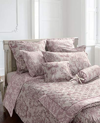 Laura Ashley Bettwäsche Aston 100% Baumwolle (Nr. 1 Rosa, 135x200 + 80x80 cm) (Bettwäsche Ashley Laura)