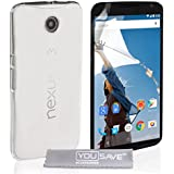 Yousave Accessories MO-ROLA-Z448 Coque pour Motorola Nexus 6 Transparent