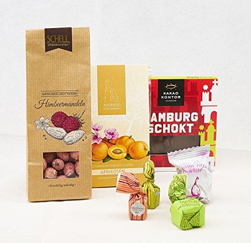 Süßes Geschenkset In 5 Varianten - Obstkorb - Schokoladen Geschenke mit Manufaktur- & Edelschokolade (Geschenk-körbe Schokolade)
