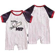 Traje de Ropa para Bebé niños recién Nacidos Batas de Verano Mameluco de Manga Corta,