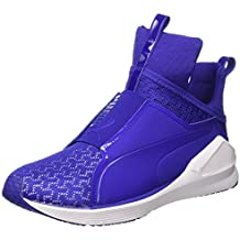 Puma Mesh Fierce Eng Sneaker, Blanco/Royal Blue, 7,5