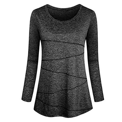 Pullover Damen Lange,Btruely Oberteil Herbst Langarm Tops Frauen T-Shirt Groß Größe Sweatshirt Casual Bluse Oberbekleidung