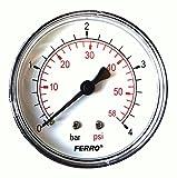 Industrial 63 mm patraña manómetro posteriores revisiones 4 0,64 cm