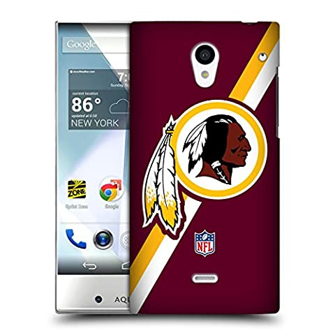 Official NFL Stripes Washington Redskins Logo Hard Back Case for Sharp Aquos Crystal 305SH