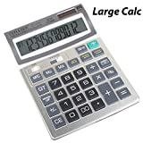 #3: 12 Digit Solar, Battery Basic Professional Office Calculator with Extra Large LCD Display, Large Size