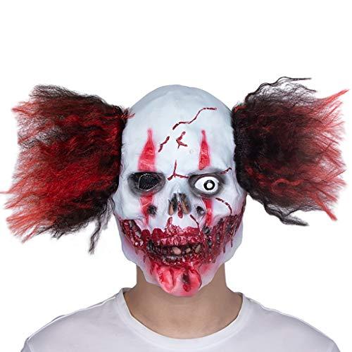 YKQ WS Halloween Horror Weiß Latex Maske Scary Dress up Artikel Party Stage Performance Kostüme
