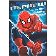 Hallmark Spiderman Nephew Card Hero - Medium