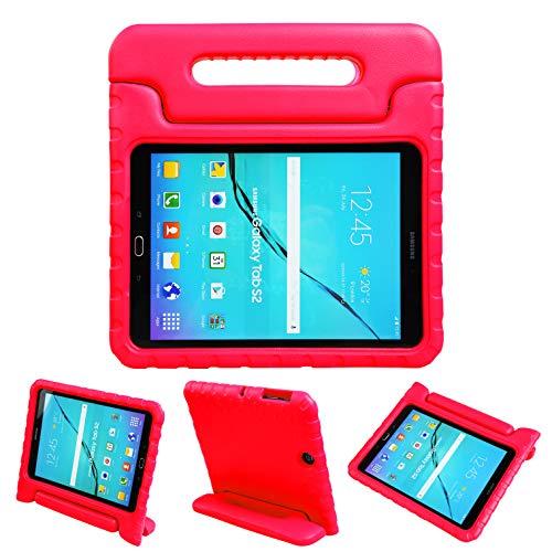 NEWSTYLE Galaxy Tab S2 9.7 Cover per Bambini, Custodia Antiurto Portatile con Supporto per Cellulare Tablet Funzione leggio per Galaxy SM-T810 SM-T815 (Rosso )