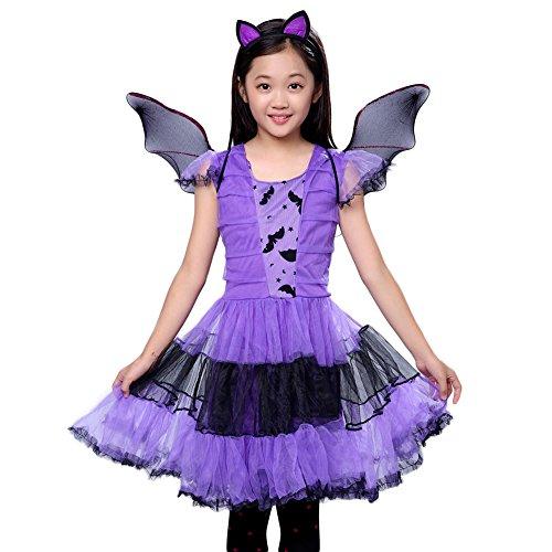 Vampir Kostüm Mädchen Kleinkind Kinder (Pueri Kinder Mädchen Kostüm Vampir Cosplay Kostüm Verkleidung für Halloween Karneval Fasching)