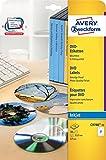 Avery Zweckform C9780-15 DVD-Etiketten (A4, matt, 30 Etiketten, Ø 117 mm) 15 Blatt weiß